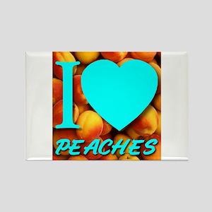 I (Heart) Peaches Rectangle Magnet