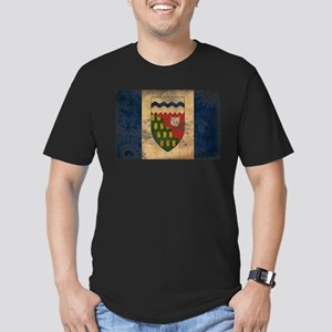 Northwest Territories Flag Men's Fitted T-Shirt (d