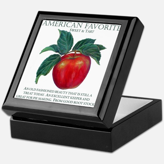 Cute American as apple pie Keepsake Box