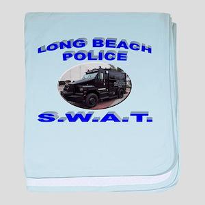 Long Beach SWAT baby blanket