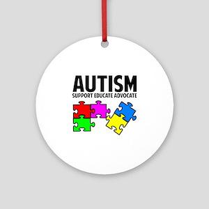 Autism Ornament (Round)
