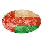 Oman Flag Sticker (Oval 50 pk)