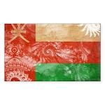 Oman Flag Sticker (Rectangle)