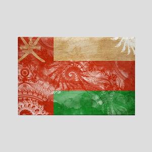 Oman Flag Rectangle Magnet