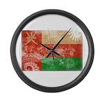 Oman Flag Large Wall Clock