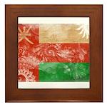 Oman Flag Framed Tile