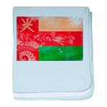 Oman Flag baby blanket