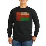 Oman Flag Long Sleeve Dark T-Shirt