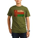 Oman Flag Organic Men's T-Shirt (dark)