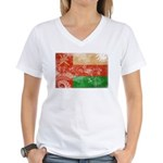 Oman Flag Women's V-Neck T-Shirt