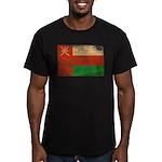 Oman Flag Men's Fitted T-Shirt (dark)