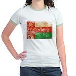 Oman Flag Jr. Ringer T-Shirt