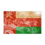 Oman Flag 38.5 x 24.5 Wall Peel