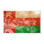 Oman Flag 22x14 Wall Peel