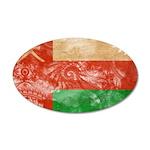 Oman Flag 38.5 x 24.5 Oval Wall Peel