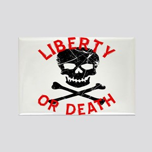 Liberty Or Death Skull Rectangle Magnet