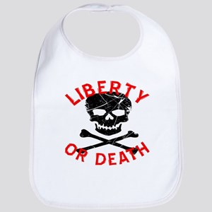Liberty Or Death Skull Bib