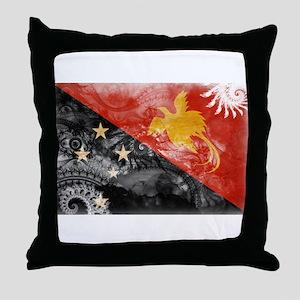 Papua new Guinea Flag Throw Pillow