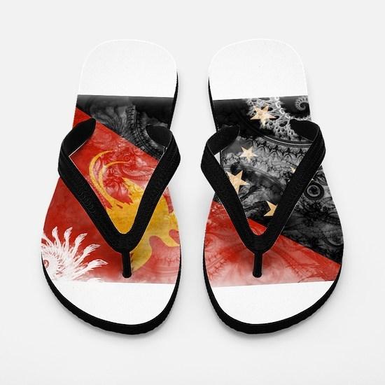 Papua new Guinea Flag Flip Flops