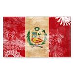 Peru Flag Sticker (Rectangle 50 pk)