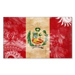 Peru Flag Sticker (Rectangle 10 pk)