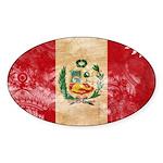 Peru Flag Sticker (Oval 10 pk)