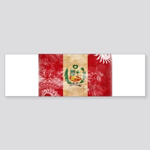 Peru Flag Sticker (Bumper)