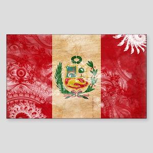 Peru Flag Sticker (Rectangle)