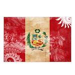 Peru Flag Postcards (Package of 8)