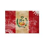 Peru Flag Rectangle Magnet (100 pack)