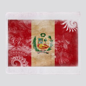 Peru Flag Throw Blanket