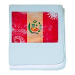 Peru Flag baby blanket