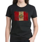 Peru Flag Women's Dark T-Shirt