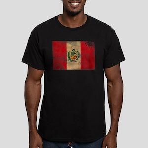 Peru Flag Men's Fitted T-Shirt (dark)