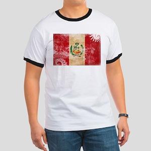 Peru Flag Ringer T