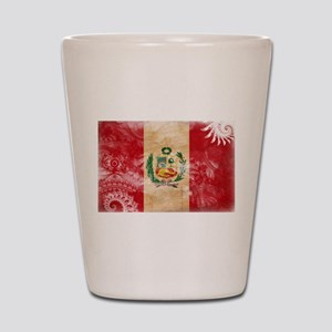Peru Flag Shot Glass