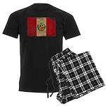 Peru Flag Men's Dark Pajamas