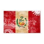 Peru Flag 22x14 Wall Peel