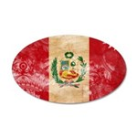 Peru Flag 38.5 x 24.5 Oval Wall Peel