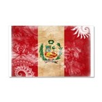 Peru Flag Car Magnet 20 x 12