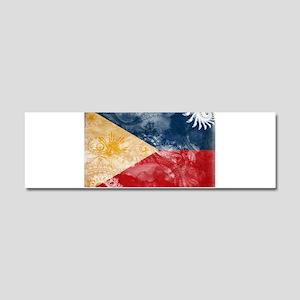 Philippines Flag Car Magnet 10 x 3