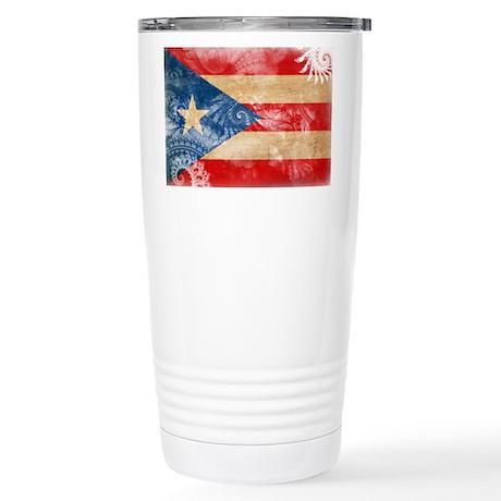 Puerto Rico Flag Stainless Steel Travel Mug
