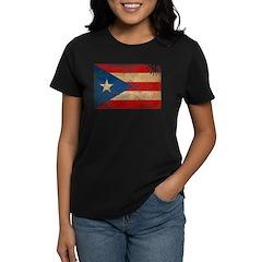 Puerto Rico Flag Women's Dark T-Shirt