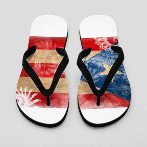 Puerto Rico Flag Flip Flops