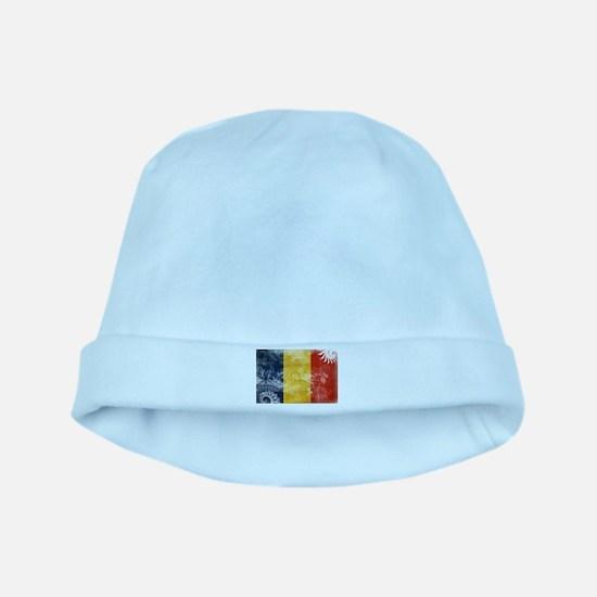Romania Flag baby hat