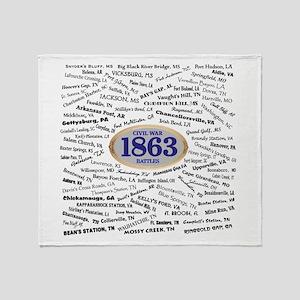 1863 Civil War Battles / Name Throw Blanket