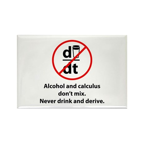 Never drink and derive Rectangle Magnet (100 pack)
