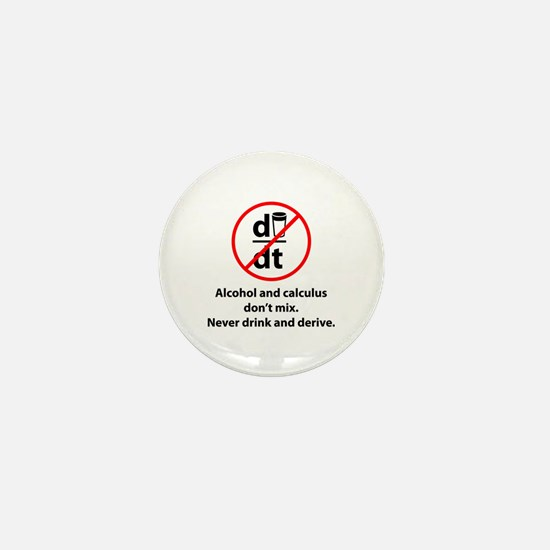 Never drink and derive Mini Button