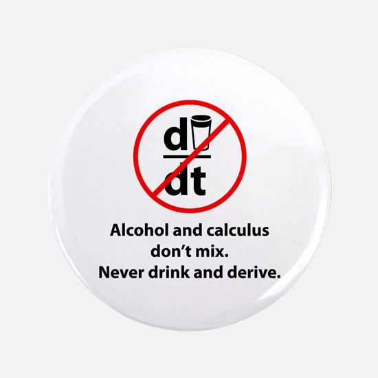 "Never drink and derive 3.5"" Button (100 pack)"
