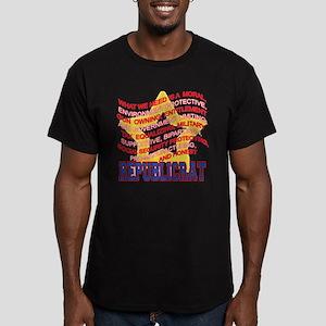 REPUBLICRAT Men's Fitted T-Shirt (dark)
